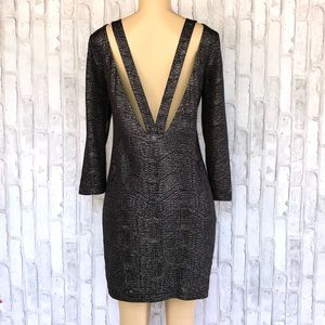 BCBGeneration Black Silver dress size small